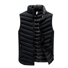 2dd987281eccf High Quality Black Men Vest Winter Male Waistcoat Slim Fit Sleeveless Jacket  Casual Vest Man Plus