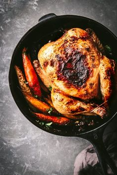 MOROCCAN-SPICED ROASTED CHICKEN & CARROTS