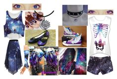 """""""Space Girls"""" by marythedemon ❤ liked on Polyvore featuring Converse, WithChic and Zoya"""