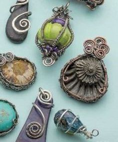 Easy Wire Stone Capture: Make Woven Wire Bezels and Cages for Gems, Shells and More - Jewelry Making Daily - Blogs - Jewelry Making Daily