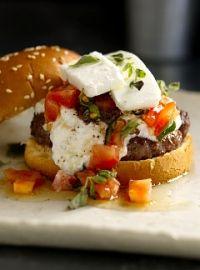 Bobby Flay's Greek burger