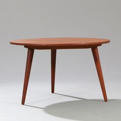 In By Mostly Danish Furniture Ottawa On Hans J Wegner Circular Teak Coffee Table With Three Tapering Legs