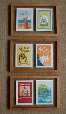 I dream of framed book covers in a library