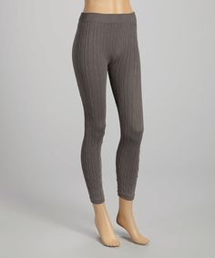 Look at this #zulilyfind! Charcoal Cable-Knit Leggings by Ana K #zulilyfinds