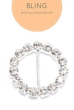 This glamorous rhinestone circle buckle is only $0.75 and it also comes in gold. At totallydazzled.com, we have a wide variety of rhinestone products for you to choose from. Check us out today and let us help you add some sparkle to your event!