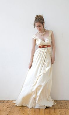 Allison Bridal Gown Empire waist with cap sleeves by rschone, $2158.00
