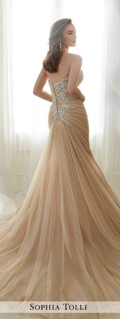 Blush Wedding Dress b Sophia Tolli 2017