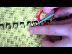 Burlap Weaving # 4: Weaving your Second Row