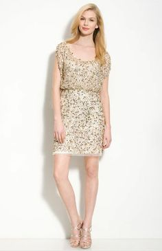 REVEL: Sequin Blouson Dress, $295