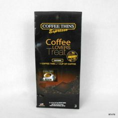 Coffee Thins Natural Energy Bar Espresso 12 per Package USA Made www.bevsthisnthatshop.com