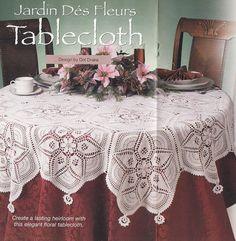 Round Tablecloth Crochet Pattern  Round por PaperButtercup en Etsy, $2.97