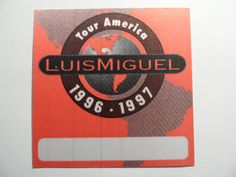 LUIS MIGUEL 1999 TOUR GUEST PASS AMARTE ES UN PLACER El Sol de Mexico SINGER VG+ From The Mighty Finwah Collection  Safely Stored For Over 23 Years   COMFORT ITEMS FOR UNIQUE TIMES  Shipping will be within 2 days of your payment  All Sales are Guaranteed Satisfaction  We are Fans so we know what fans Expect All Sale, Chicago Cubs Logo, Backstage, Singer, Times, Unique, Collection, Licence Plates, Sun