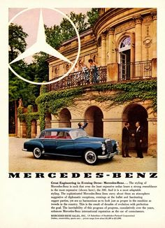 Mercedes Benz ad Ad from 1961. Look at the price range :)