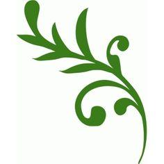 Silhouette Design Store: leafy swirl 2