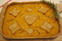 Quiche alla zucca con farina di ceci e rosmarino