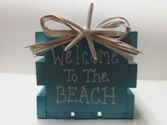 Welcome to the BEACHBeach House Crate by SeasonsChangeCrafts