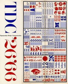 TDC Annual Competition Announcement by Herb Lubalin – 1966