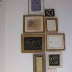 Compositie verzameling schilderijen.