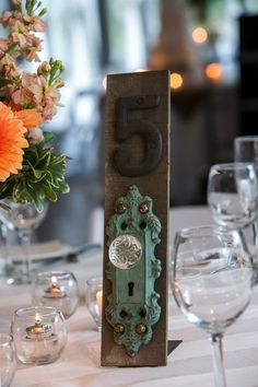 Trendy Table Numbers » Alexan Events | Denver Wedding Planners, Colorado Wedding and Event Planning