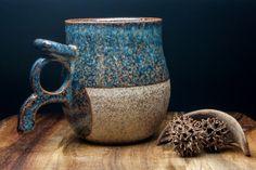 Viking mug, 500 mL/17 fl oz. Handmade to order. Stone-like clay & glazed finish. Personalization available. Ale mug. Stein. Big mug. Pottery