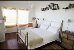 A Dreamy Bedroom | Photos | HGTV Canada  I love the bead board topped with a plate shelf!