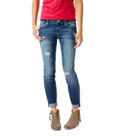 Kylie Boyfriend Destroyed Medium Wash Jean