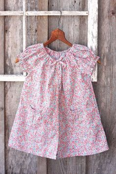 Toddler dress made from an upcycled womans shirt - I love it