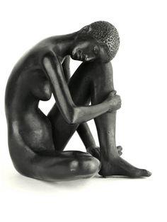 black - woman - figurative sculpture - Karl-Heinz Krause