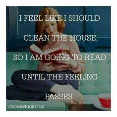 Reading vs housework