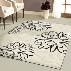 Better Homes and Gardens Iron Fleur Area Rug. Another nice rug from Walmart. comes in a few different color combos. (Kind of a cool rug -- too formal for a more casual living room? Room Rugs, Area Rugs, Diy Home, Home Decor, Rug Cleaning, Better Homes And Gardens, My New Room, Carpet Runner, Rug Runner