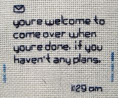 Text Message Embroideries