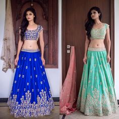 Colour Carnival : Beautify your self with this stunning lehenga choli Grab this look for just Rs To buy WhatsApp @ 9054562754 Indian Attire, Indian Ethnic Wear, Indian Outfits, Indian Fashion Trends, Indian Designer Wear, Lehenga Choli, Tie Dye Skirt, High Waisted Skirt, Two Piece Skirt Set