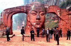 A stone gate at a scenery site of Danxia Landform in Chishui of southwest China's Guizhou Province.