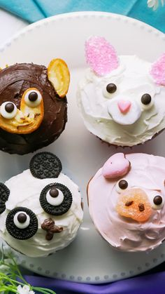 Cute decoration with commercially available sweets ♪ cupcakes decoration hochzeit ideas ideen recipes rezepte cupcakes cupcakes cupcakes Cookie Monster Cupcakes, Kid Cupcakes, Ladybug Cupcakes, Sheep Cupcakes, Jungle Cupcakes, Teddy Bear Cupcakes, Lamb Cupcakes, Farm Animal Cupcakes, Panda Cupcakes