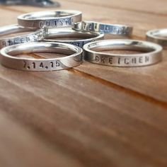 Looks like you are loving our stacking rings as much as love making them!!!!! Stacking Name Rings by DreamWillowStudio on Etsy