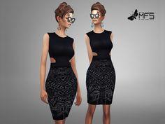 MFS Joyce Dress by MissFortune at TSR via Sims 4 Updates