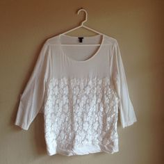 J Crew top with la e front! Cotton mix J. Crew Tops Tees - Long Sleeve