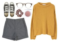 """""""Sav"""" by soym ❤ liked on Polyvore featuring Rachel Comey, MANGO, Converse, Oliver Peoples and Topshop"""