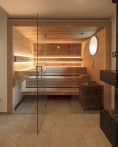 Serene Bathroom, Bathroom Spa, Small Bathroom, Bathroom Storage, Diy Sauna, Sauna Steam Room, Sauna Room, Industrial Interior Design, Industrial House