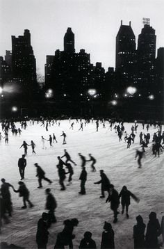 Bruno Barbey (Moroccan French 1941- ) • Ice Skating in Central Park at the Wollman Rink