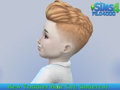 New adult to toddler mesh conversion haircut, the undercut. Comes in several different colours, enjoy! Found in TSR Category 'Sims 4 Female Hairstyles'