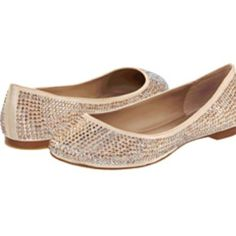 Blush Sparkle Flats Worn only once. In great condition! Amazingly comfortable! Very flashy and fun! Just growing out of them and they need a new home. Steve Madden Shoes Flats & Loafers