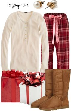 """""""Christmas Morning"""" by taytay-268 on Polyvore"""