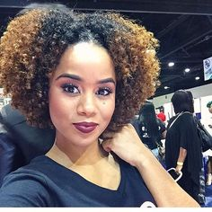 ***Try Hair Trigger Growth Elixir*** ========================= {Grow Lust Worthy Hair FASTER Naturally with Hair Trigger} ========================= Go To: www.HairTriggerr.com =========================     Her Hair Color, Curly Definition, and Makeup is Gorgeous!!!