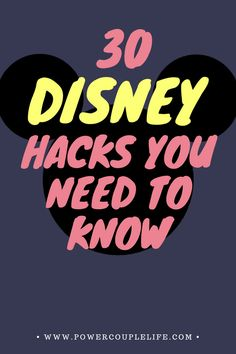 These are 30 hacks you need to know to save you and you family time, money, and your sanity for your next trip to Disney! Walt Disney World, Disney World Resorts, Disney Vacations, Disney Worlds, Disney Planning, Disney Tips, Disney Fun, Travel Guides, Travel Tips