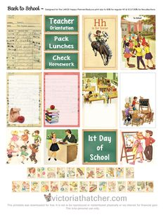 Free Printable Back to School Planner Stickers from Victoria Thatcher