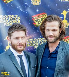 Photo Jensen Ackles and Jared Padalecki aka Sam and Dean Winchester from the CW hit show Supernatural. These guys were great that night. They interacted with everyone and brought all the same energy to this award show as they do onset.