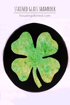 Stained Glass Shamrock ~ St. Patrick's Day Sun Catcher