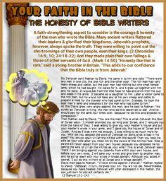The Honesty of Bible Writers 2 Samuel 12:1-14