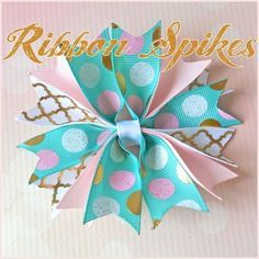 DIY funky ribbon spikes hair-bow tutorial! There is a trick to making spiky ribbon hair-bows look full and fluffy. Join Danielle on the blog to see how she makes these fun hair-bows with easy to follow instructions.